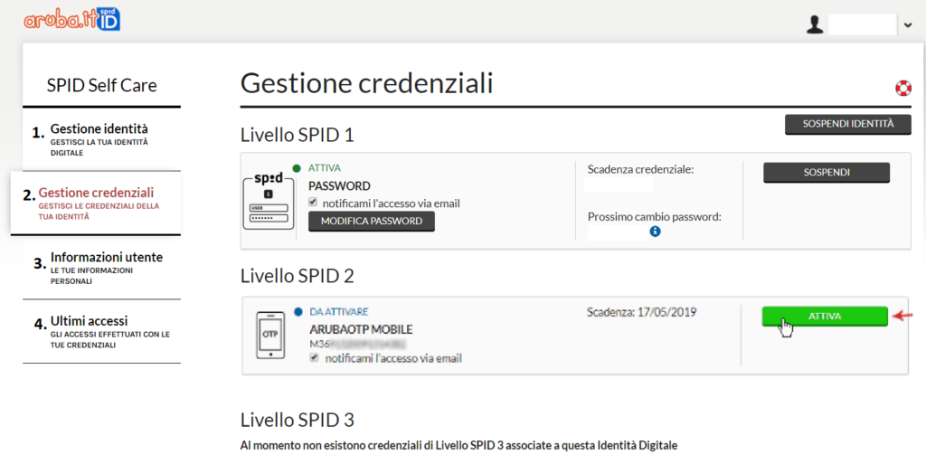 Configurazione OTP - Studio SdS & Associati